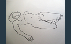 Reclining Nude, 2013, pencil on paper, A3